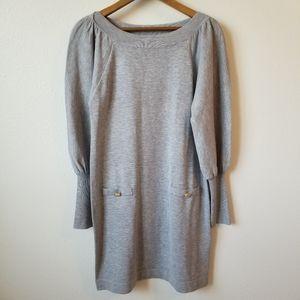 Vince Camuto Gray Balloon Sleeve Sweater Dress